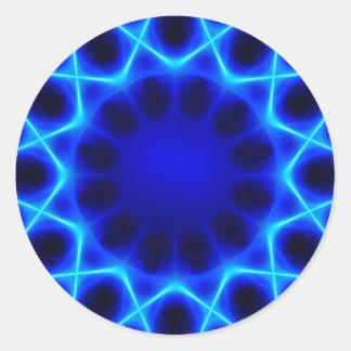 Sticker Rond laser bleu #2