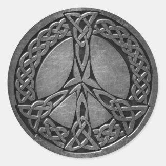 Sticker Rond L'autocollant celtique du symbole 5, 3 s'avancent