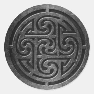 Sticker Rond L'autocollant celtique du symbole 6, 3 s'avancent
