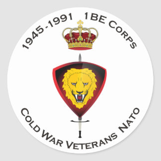 Sticker Rond L'autocollant Cold désordre Veterans NATO 1BE le