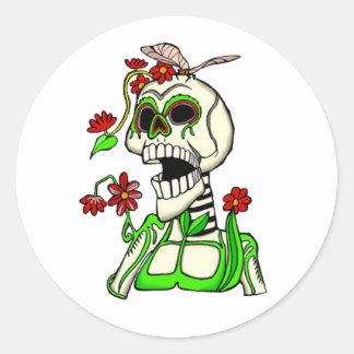 Sticker Rond L'autocollant de DOD de pouce vert