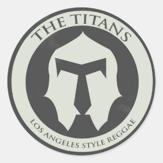 Sticker Rond L'autocollant de logo de titans