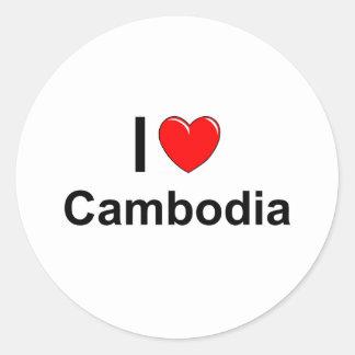 Sticker Rond Le Cambodge