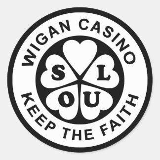 Sticker Rond Le casino de Wigan gardent la foi