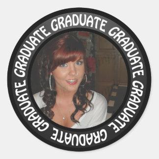 Sticker Rond Le cercle de tableau d'obtention du diplôme