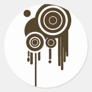 Sticker Rond Le cercle vise l'égoutture