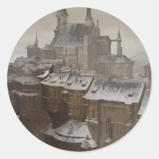 Sticker Rond Le château du propriétaire