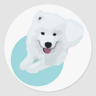 Sticker Rond Le chien