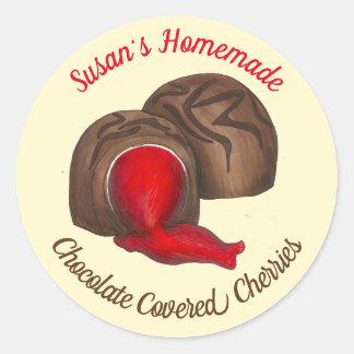Sticker Rond Le chocolat fait maison a couvert la sucrerie de