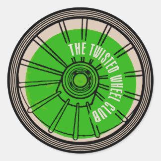 Sticker Rond Le club tordu de roue