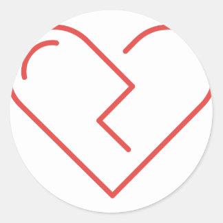 Sticker Rond Le coeur brisé
