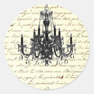 Sticker Rond le cru scripts le mariage de lustre de Paris