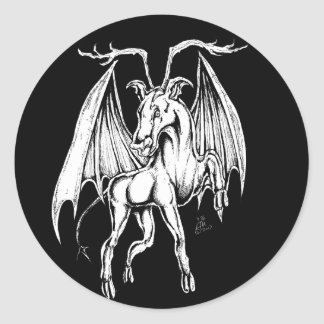 Sticker Rond Le diable du Jersey