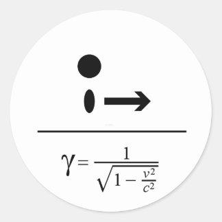 Sticker Rond Le facteur de Lorentz