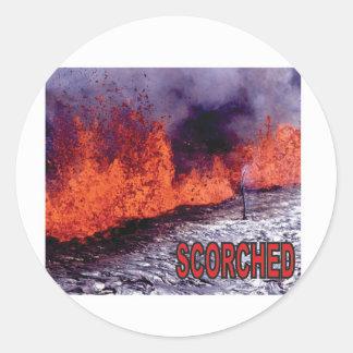 Sticker Rond le feu roussi