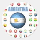Sticker Rond Le football 0335 de l'Argentine