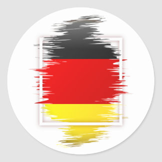 Sticker Rond Le football allemand de drapeau