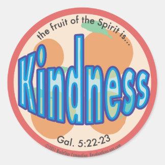 Sticker Rond Le fruit de gentillesse de l'esprit repère