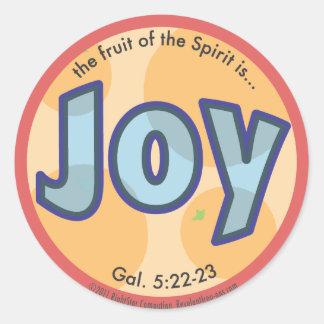 Sticker Rond Le fruit de joie de l'esprit repère l'autocollant