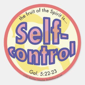 Sticker Rond Le fruit de sang-froid de l'esprit repère