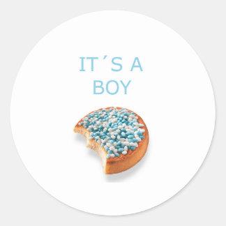Sticker Rond le garçon de .a est né