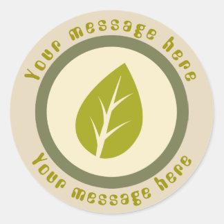 Sticker Rond Le jardinage vert de feuille ajoutent