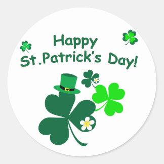 Sticker Rond Le jour de St Patrick heureux