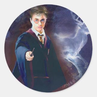 Sticker Rond Le mâle Patronus de Harry Potter