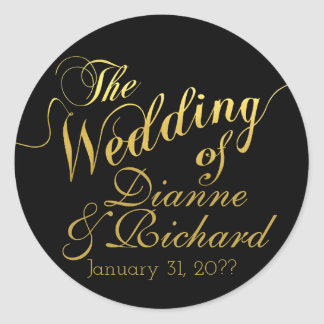 Sticker Rond le mariage… de nos noms