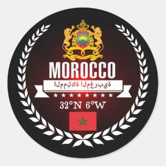 Sticker Rond Le Maroc