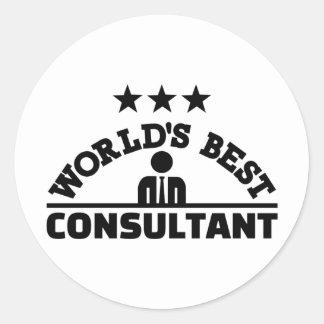 Sticker Rond Le meilleur consultant en matière du monde