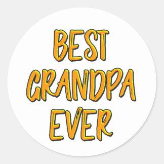 Sticker Rond Le meilleur grand-papa jamais