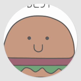 Sticker Rond le meilleur hamburger