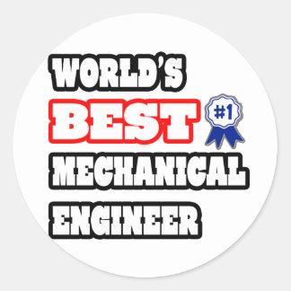 Sticker Rond Le meilleur ingénieur mécanicien du monde