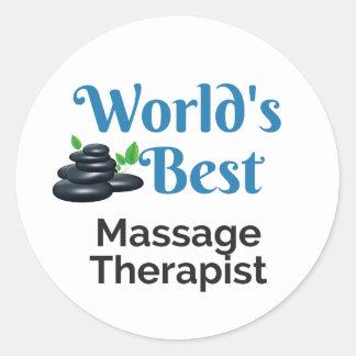 Sticker Rond Le meilleur thérapeute du massage du monde
