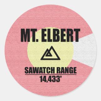 Sticker Rond Le mont Elbert
