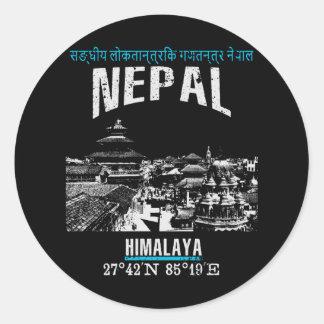 Sticker Rond Le Népal