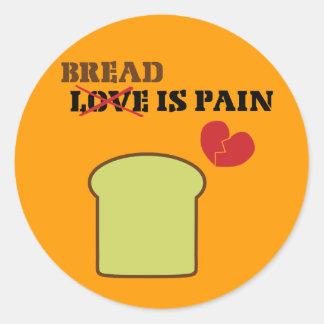 Sticker Rond Le pain est douleur
