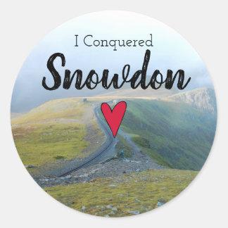 Sticker Rond Le Pays de Galles a conquis le souvenir de chemin