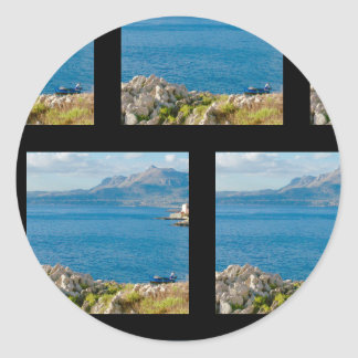 Sticker Rond Le pêcheur sicilien
