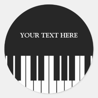 Sticker Rond Le piano fait sur commande verrouille autour des