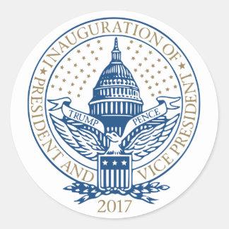 Sticker Rond Le Président Inaugural Logo Inauguration de penny