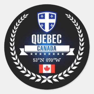 Sticker Rond Le Québec