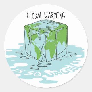 Sticker Rond Le réchauffement climatique est si sophistiqué