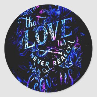 Sticker Rond Le rêve de l'amant de celui qui nous aiment
