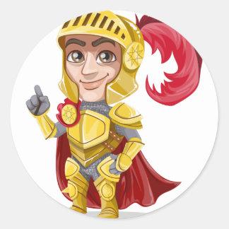 Sticker Rond Le Roi prince Armor
