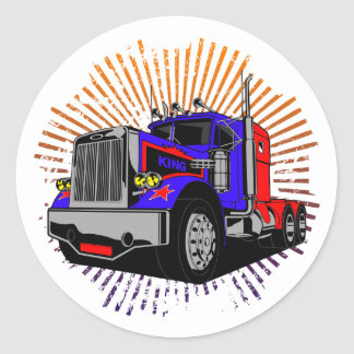 Sticker Rond Le Roi Trucker