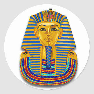 Sticker Rond Le Roi Tut Mask