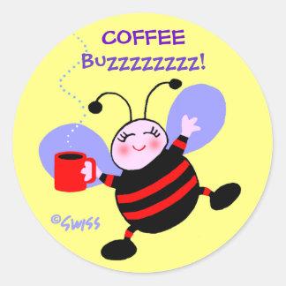 Sticker Rond Le rouge mignon de la fourmi W de bande dessinée