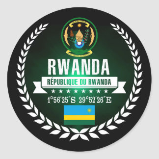 Sticker Rond Le Rwanda